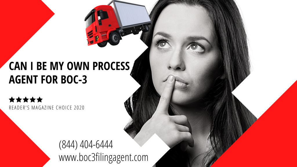 Be My Own Process Agent for BOC-3